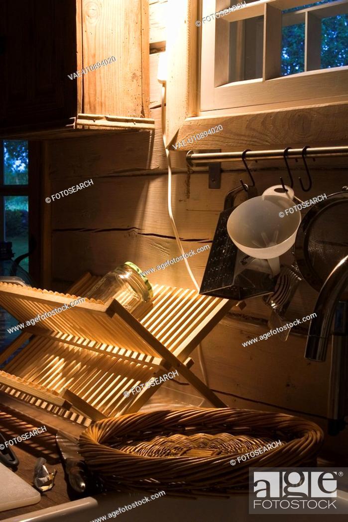 Stock Photo: Basket, Cracks, Jar, Kitchen, Kitchenware.