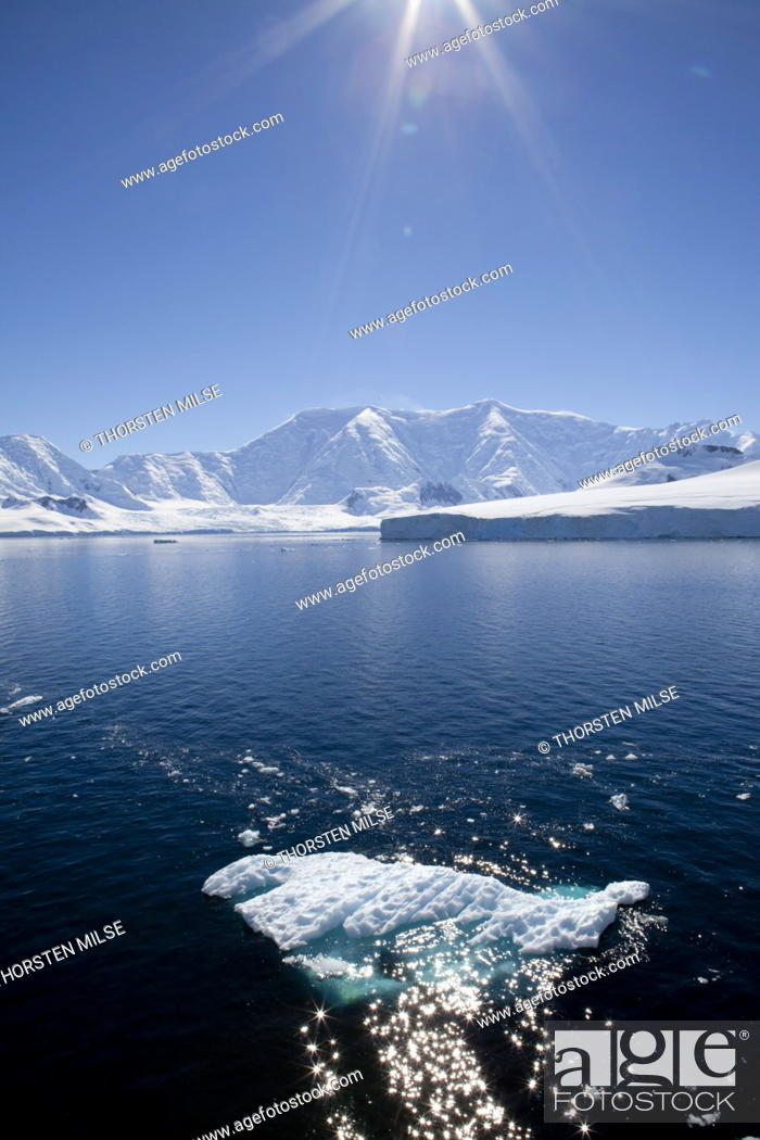 Stock Photo: Glacier Bay, Port Lockroy, Antarctic Peninsula, Antarctica, Polar Regions.