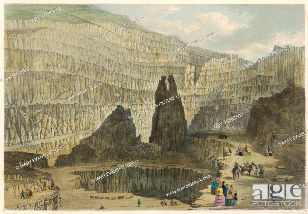 The slate quarries at Penrhyn, Bethesda, Anglesey, Wales  (1