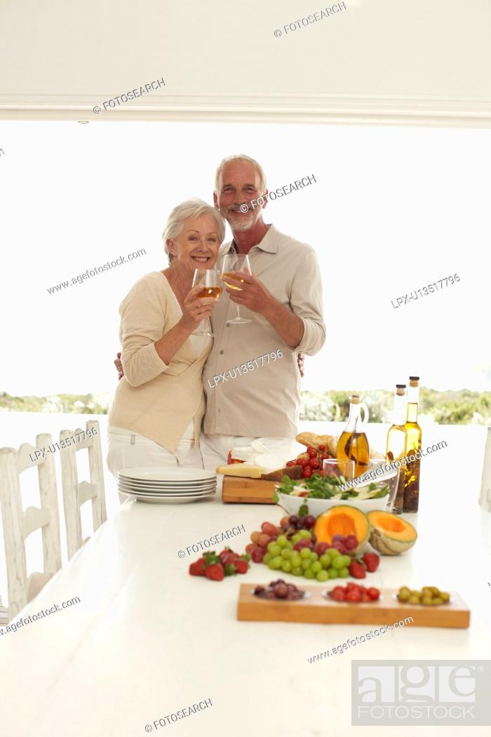 Stock Photo: Having a drink.