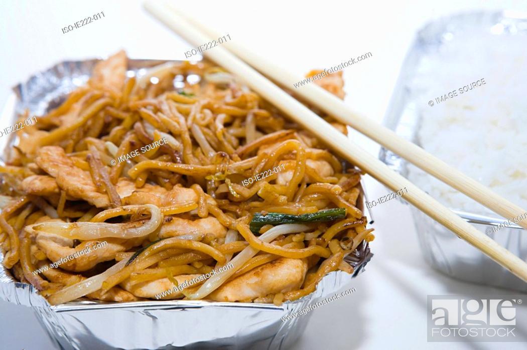 Stock Photo: Chinese takeaway.