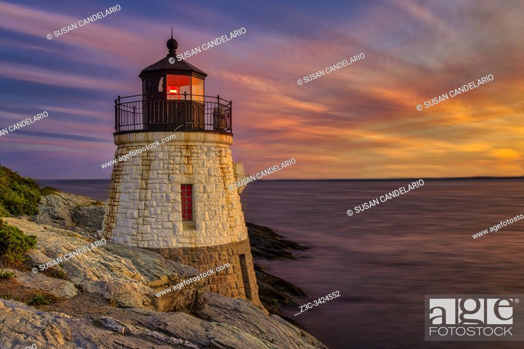 Stock Photo: Castle Hill Lighthouse RI.