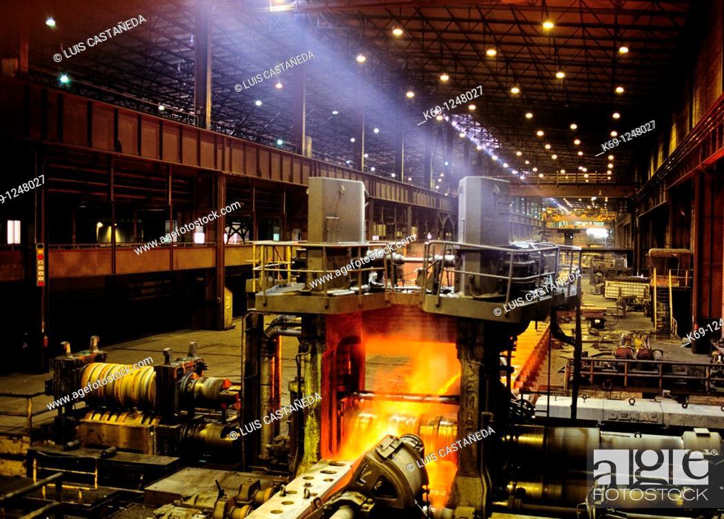 Stock Photo: Smelting Plant  Avilles  Asturias  Spain.