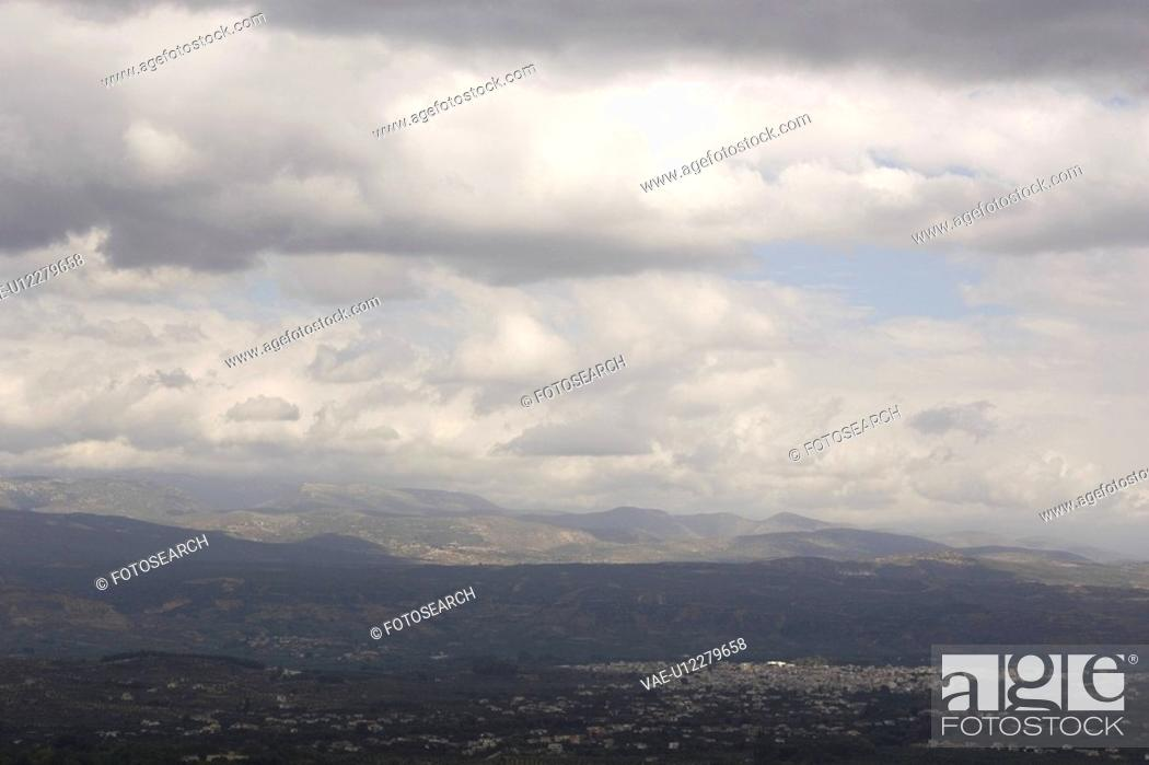 Stock Photo: Cloud, Hill, Day, Dark, Aerial View.
