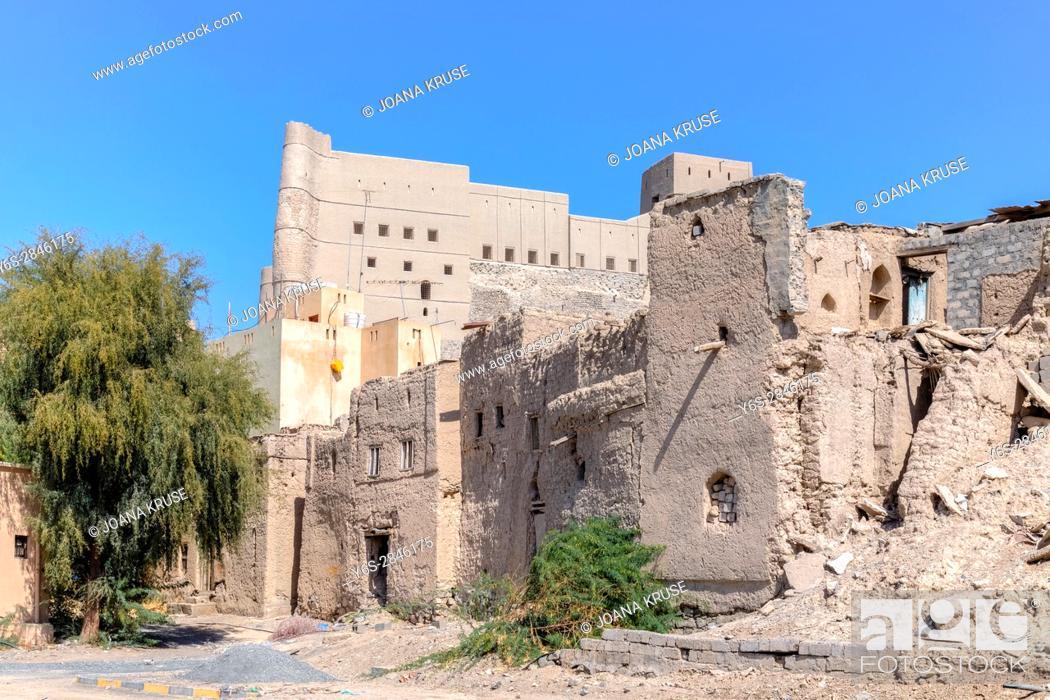 Stock Photo: Bahla Fort, Oman, Middle East, Asia.