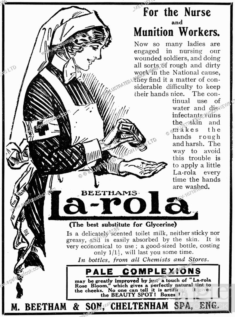 Advertisement For La Role Scented Toilet Milk Easily Absorbed Into