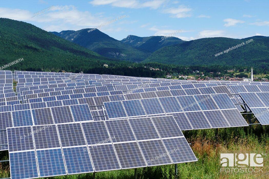 Imagen: Solar panels. Asiago, Veneto Region, Italy.