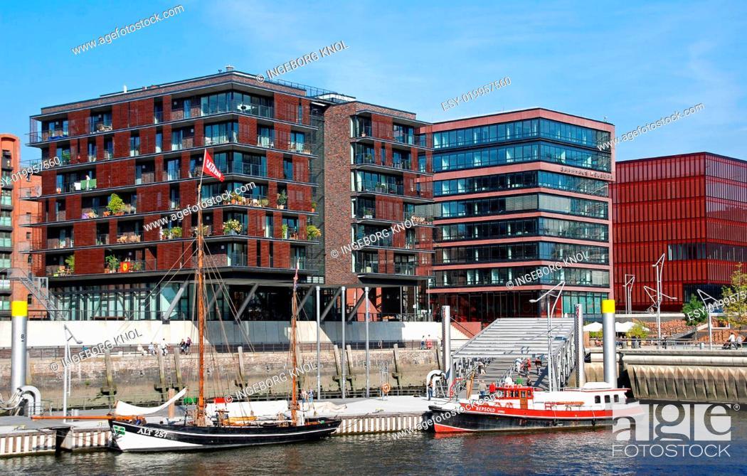 Stock Photo: Hafen-City Hamburger Hafen.