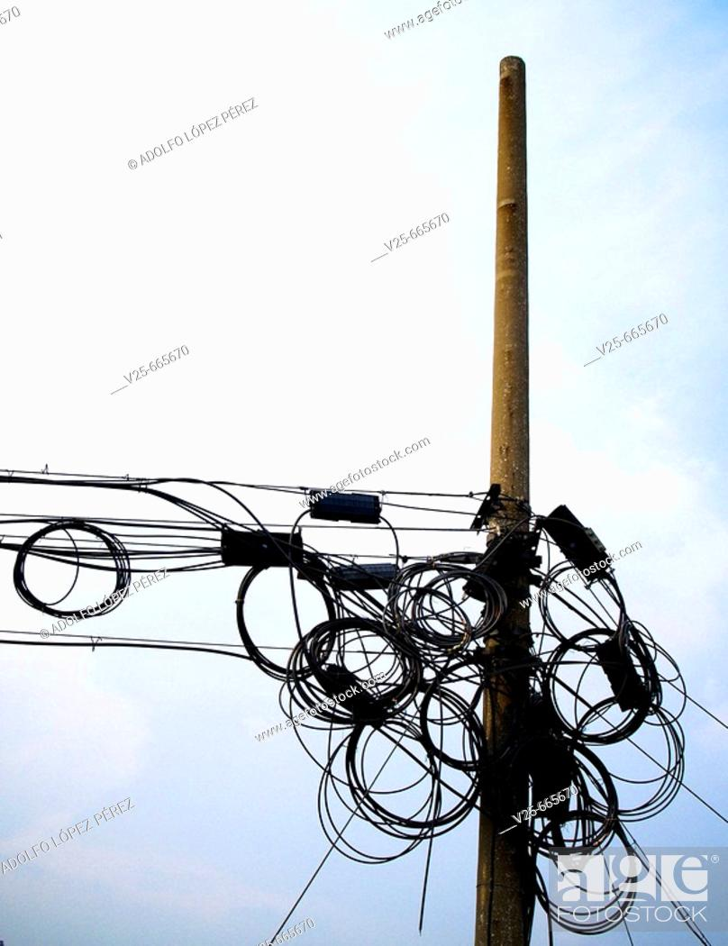Stock Photo: Power lines, China.