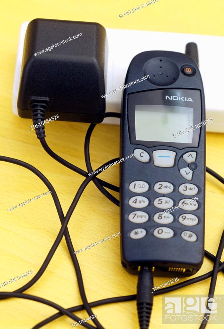 Stock Photo: Mobile Phone Being Charged.