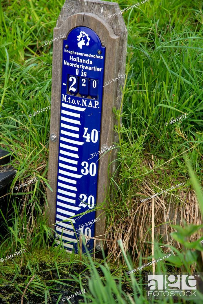 Photo de stock: NAP, normaal amsterdams peil, water measurement in Holland.