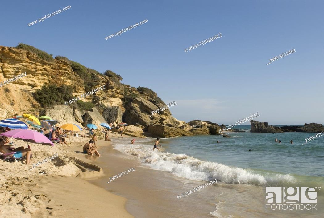 Photo de stock: Calas de Conil, Conil Coves, Pato Beach, Conil de la Frontera, province of Cadiz, Andalucia, Spain.