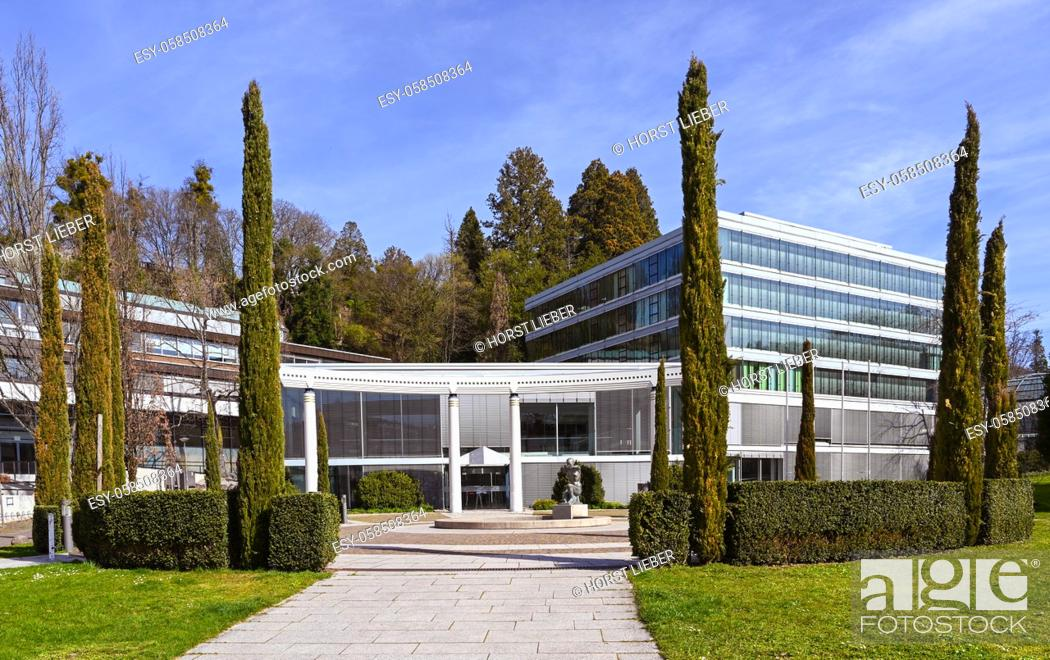 Stock Photo: View of the famous Caracalla Therme in Baden-Baden. Baden Wuerttemberg, Germany, Europe.