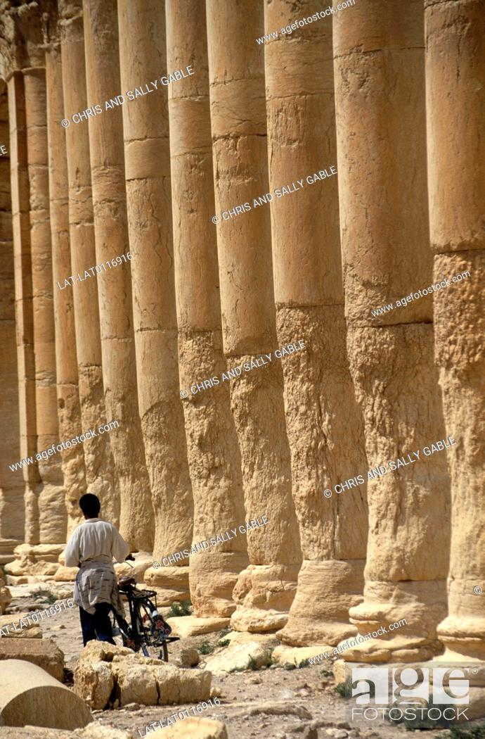 Stock Photo: Palmyra was an important trading city and city state from the 1st century AD, and has many fine archaeological and historic sites.