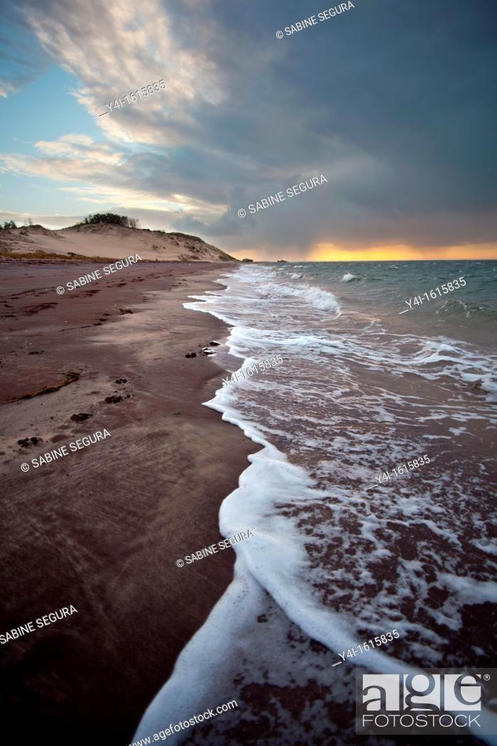 Stock Photo: Atlantic Beach  La Teste de Buch  Gironde  Aquitaine  France  Europe.