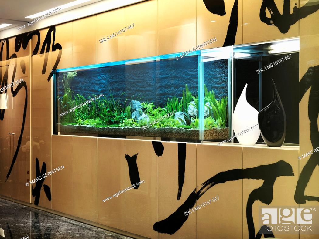 Stock Photo Large Fish Tank In Modern Home
