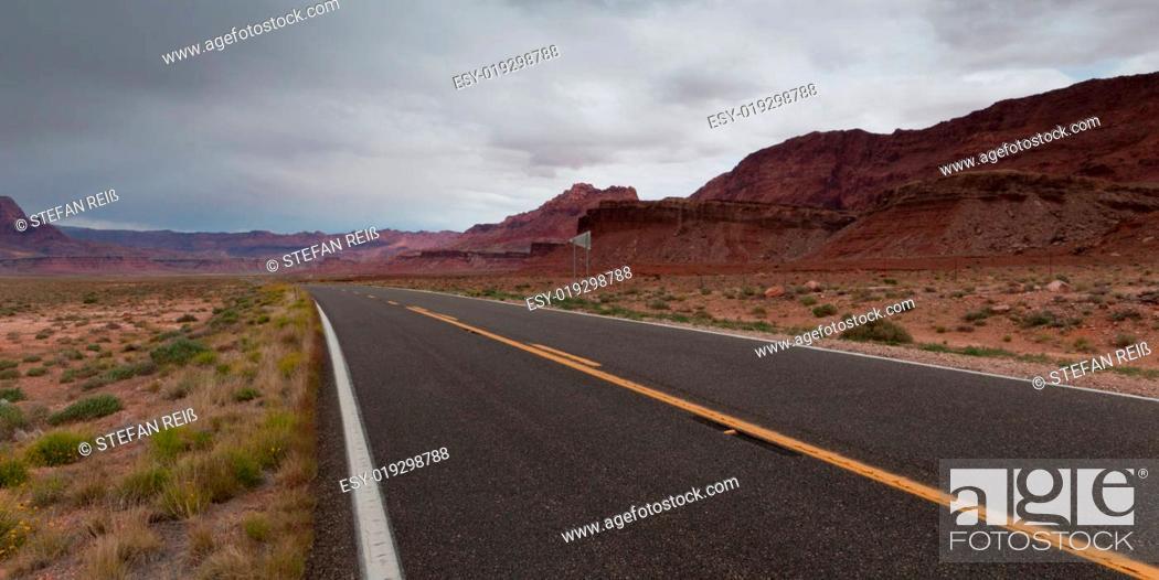 Stock Photo: Desert Road.