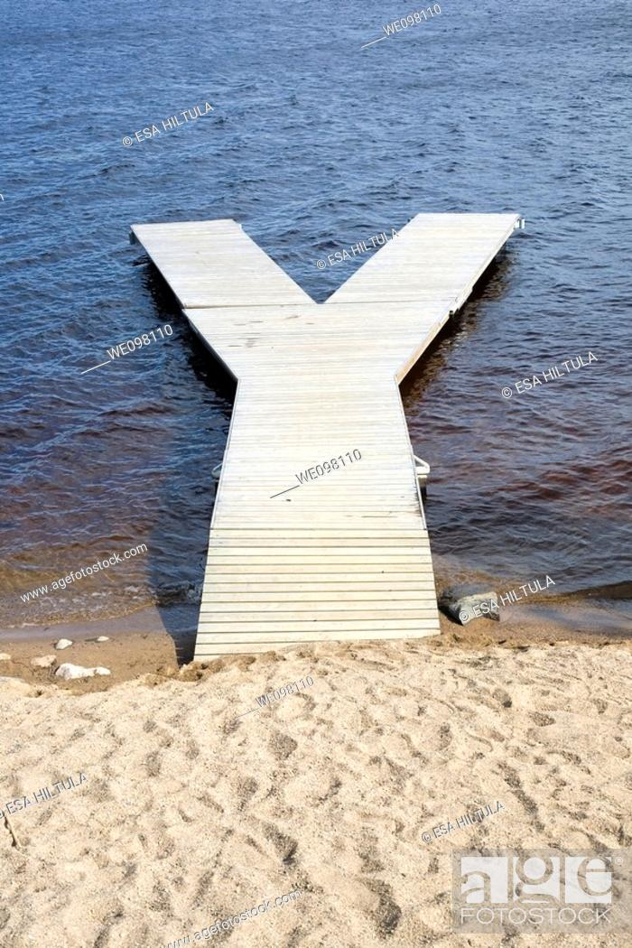 Stock Photo: wooden jetty.