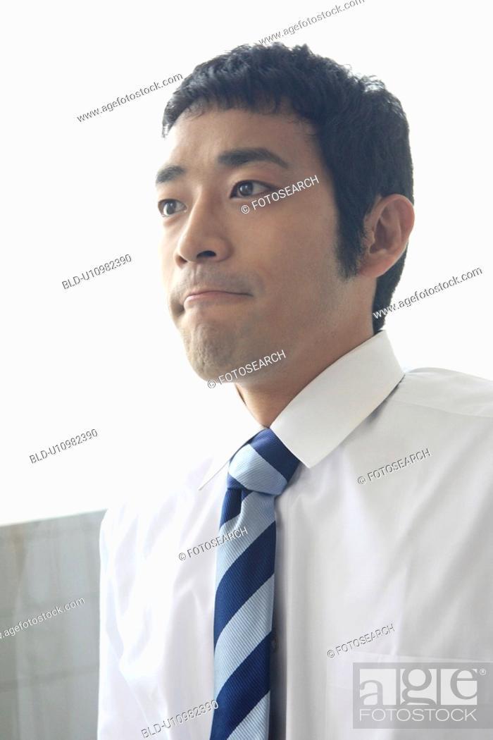 Stock Photo: Portrait of businessman.
