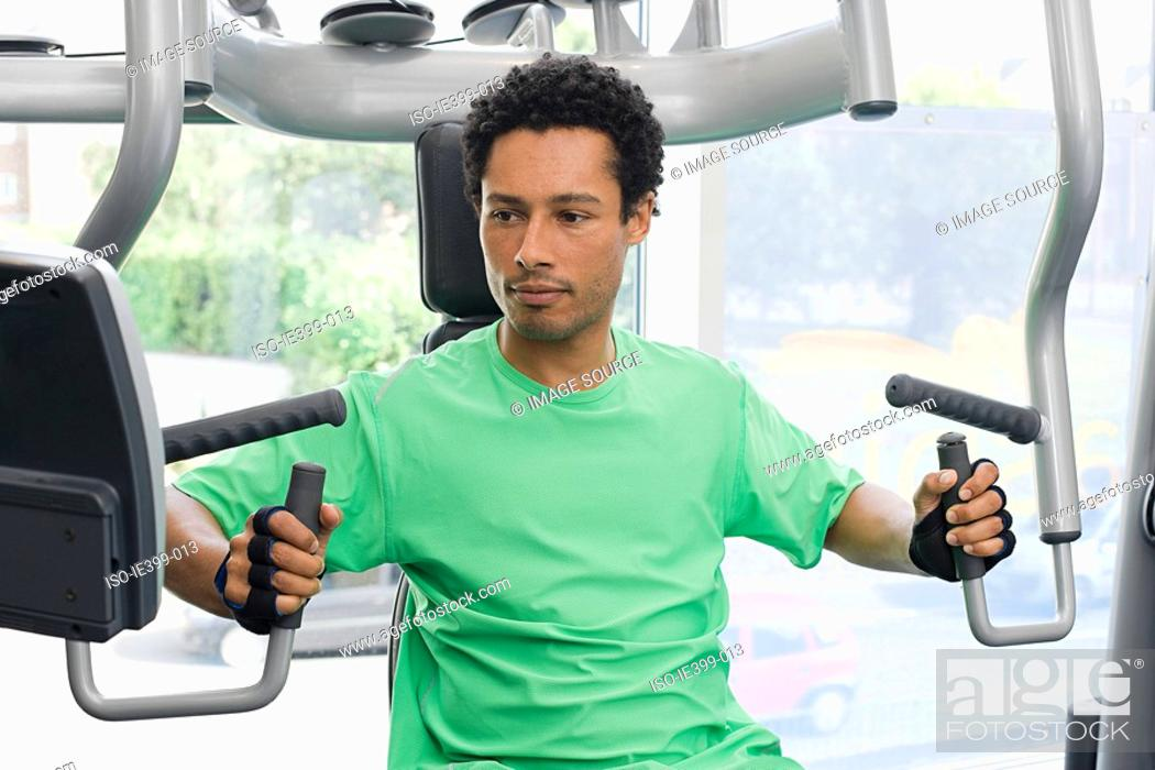 Stock Photo: Man at the gym.