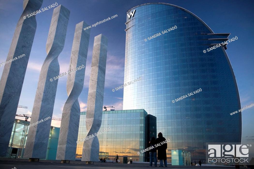 Photo de stock: Hotel W Barcelona Hotel Vela by Ricardo Bofill, Barcelona, Catalonia, Spain.
