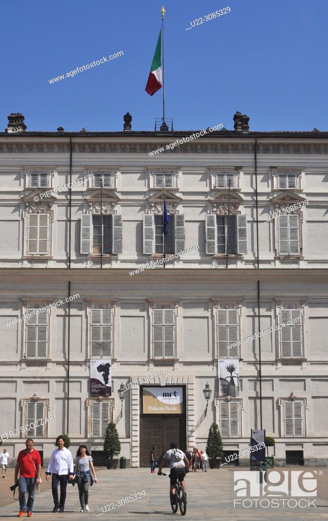 Stock Photo: Turin, Italy: Palazzo Reale.