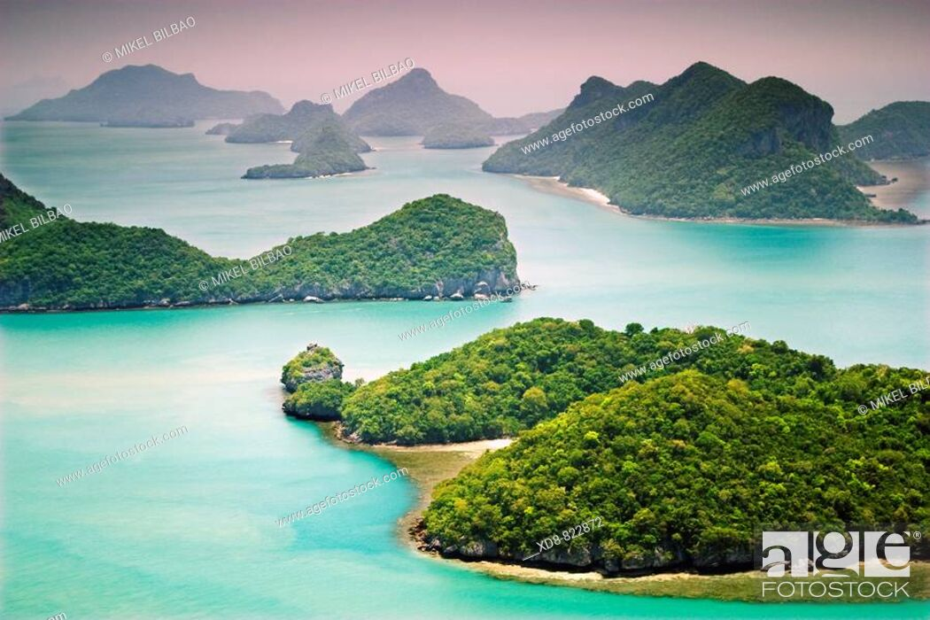 Stock Photo: Ko Wat Ta La lookout Ang Thong National Marine Park Ko Samui, Surat Thani Province, Thailand, Asia.