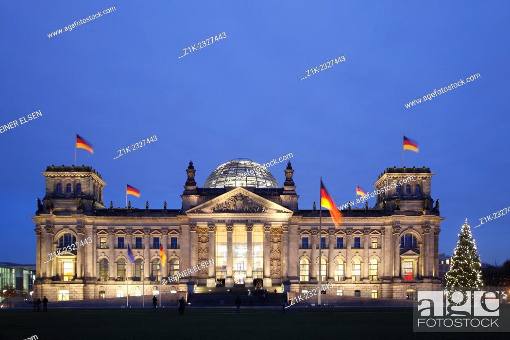 Stock Photo: Berlin Reichstag Square Of Republic.