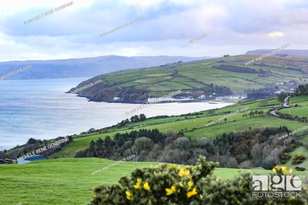 Stock Photo: Torr Head scenic overlook near Ballycastle, Northern Ireland.