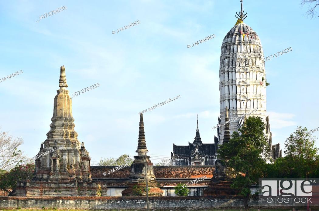 Stock Photo: Ayutthaya Historical Park, Wat Phutthaisawan buddhist temple (14th century, World Heritage). Phra Nakhon Si Ayutthaya, Thailand.