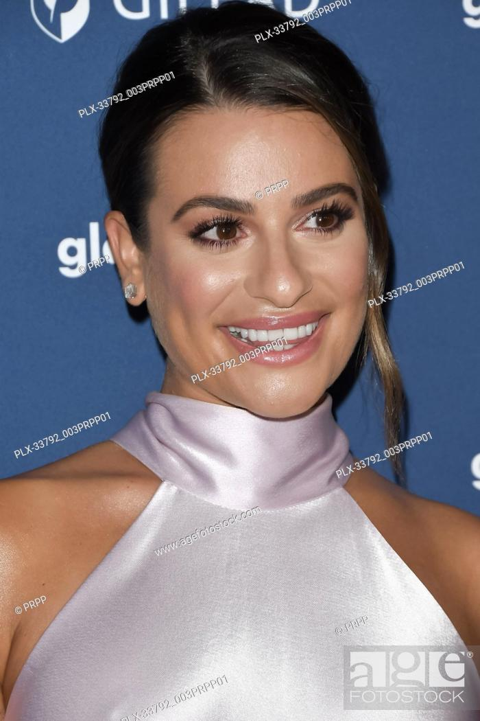 Stock Photo: Lea Michele at the 30th Annual GLAAD Media Awards held at the Beverly Hilton Hotel in Beverly Hills, CA on Thursday, March 28, 2019.