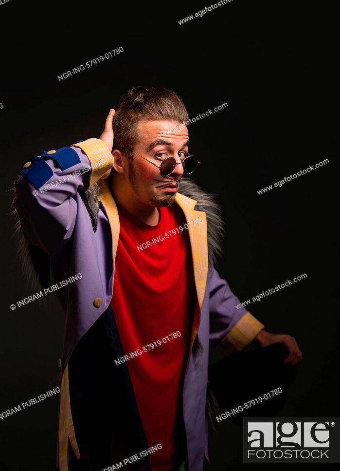 Stock Photo: Clown Posing.