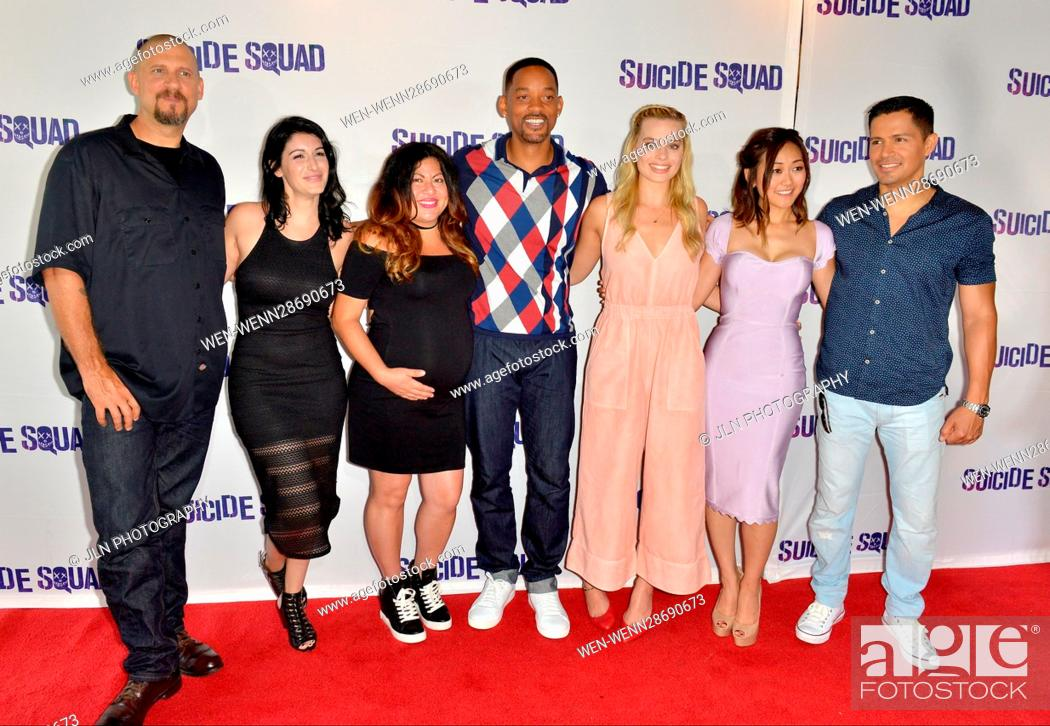 Stock Photo: 'Suicide Squad' Wynwood Block Party and Mural Reveal in Miami, Florida Featuring: David Ayer, Amanda Valdes, Didirok, Will Smith, Margot Robbie, Karen Fukuhara.