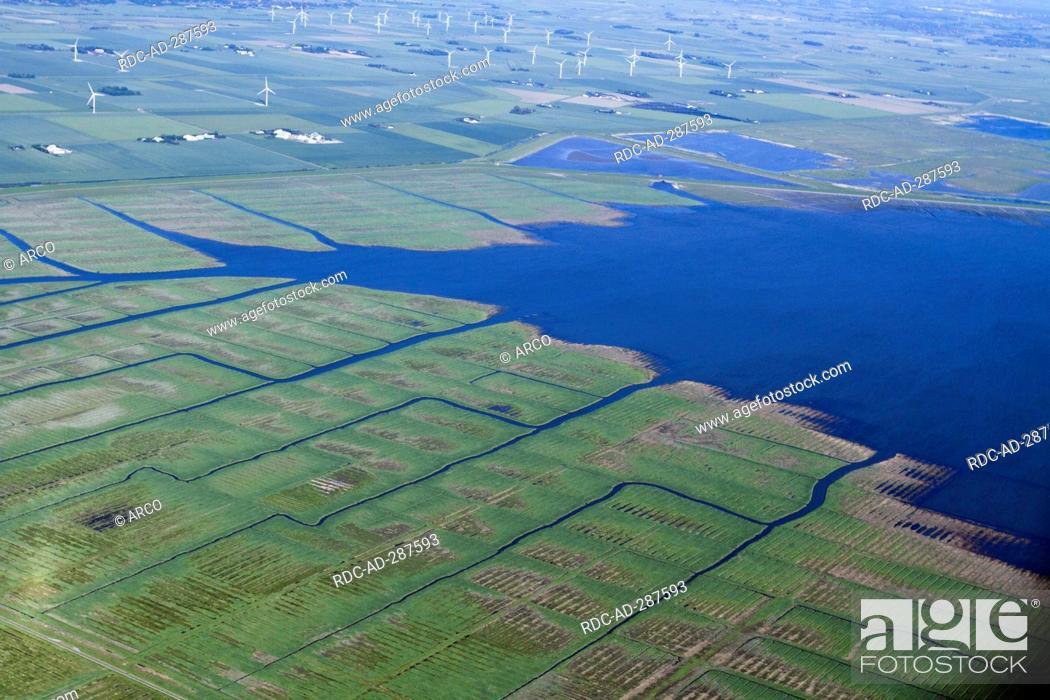 Salt marshes, Reussenkoog, Sonke-Nissen-Koog, Sonke-Nissen-Koog lock ...