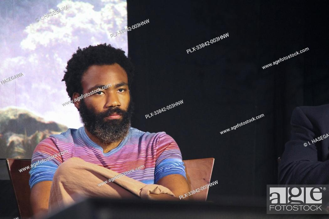 """Stock Photo: Donald Glover 07/10/2019 """"""""The Lion King"""""""" Press Conference held at the Montage Beverly Hills Luxury Hotel in Beverly Hills, CA. Photo by I."""