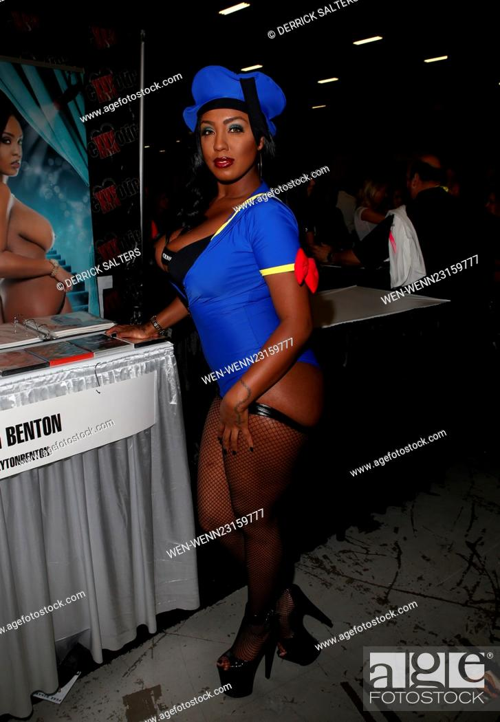 Stock Photo Exxxotica Expo  Held At The New Jersey Convention And Exposition Center Featuring Layton Benton Where Edison New Jersey
