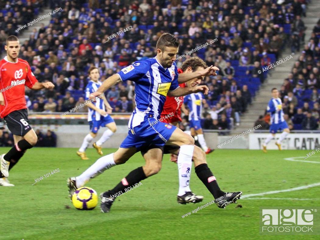 Stock Photo: Cornellá-El Prat Stadium, 24/01/2009, Spanish League, RCD Espanyol vs. Real Mallorca, Luis Garcia.