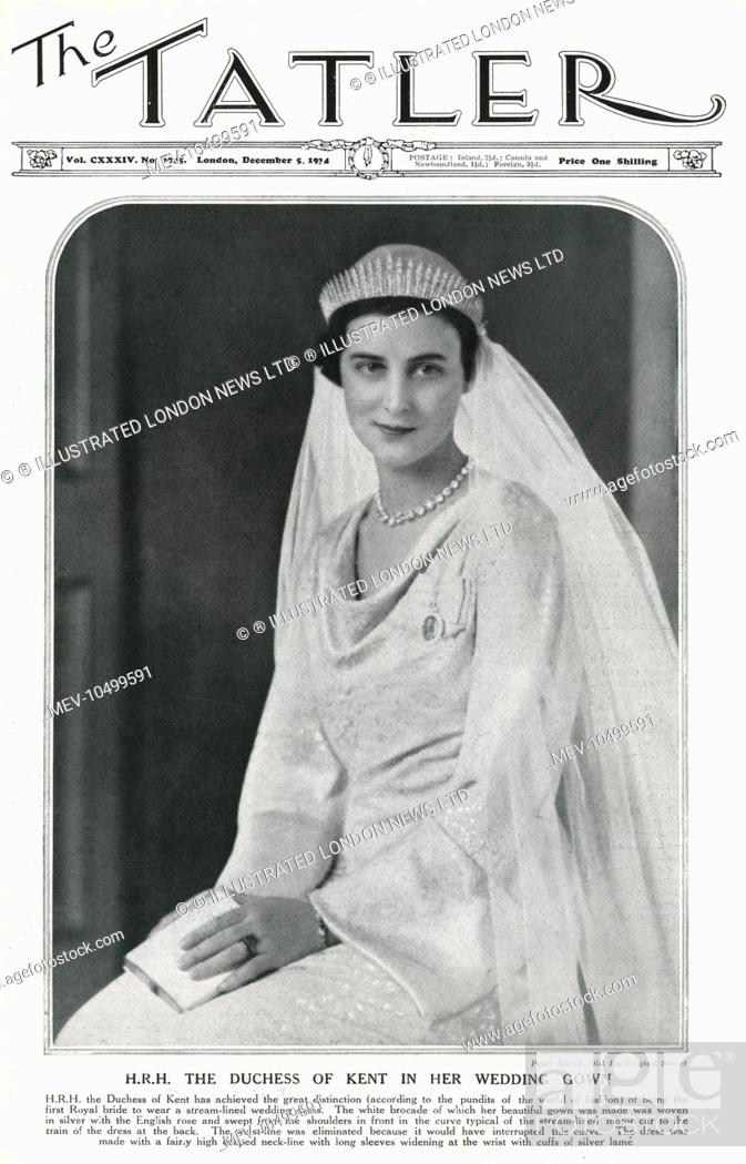 H.R.H The Duchess of Kent, formerly Princess Marina of Greece, Stock ...