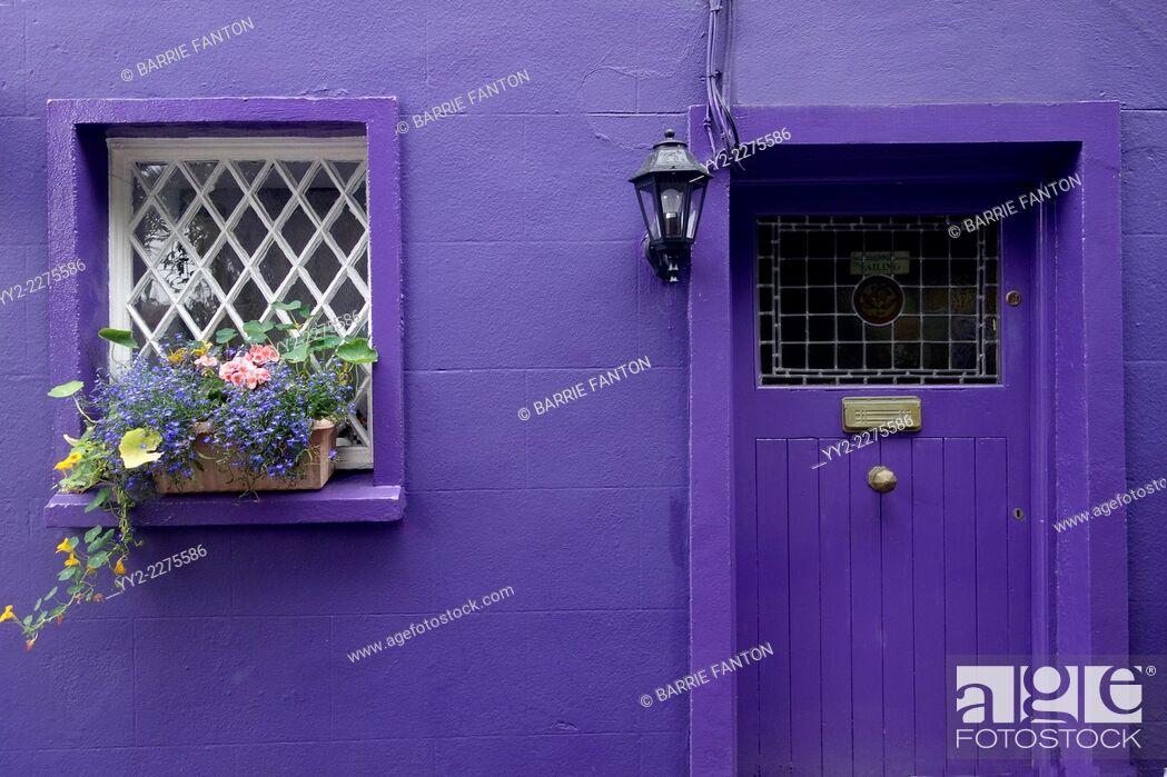 Imagen: Purple Cottage, Kinsale, Ireland, Republic of Ireland, Europe, .