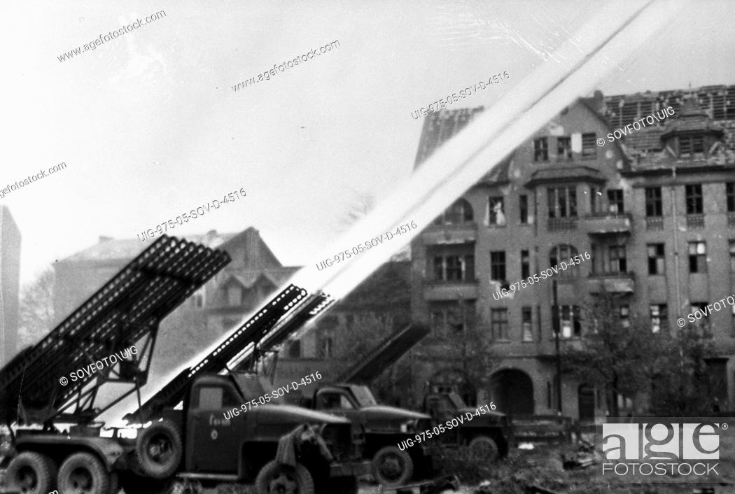 World war 2, katyusha rocket launchers (bm-13) in berlin