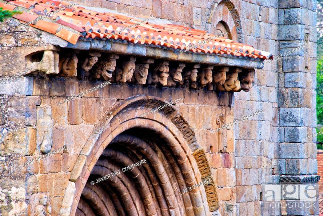 Stock Photo: Romanesque Collegiate Church of San Pedro (12th Century). Cervatos. Cantabria. Spain.