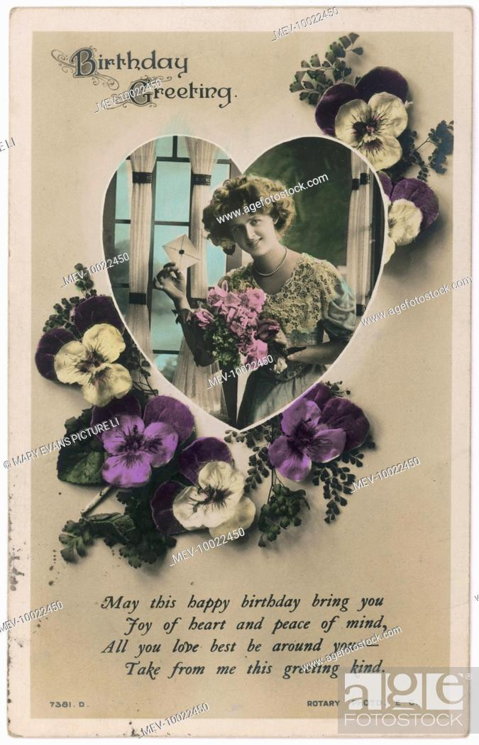 Stock Photo: A lady receives another card besides this one which shows her receiving it.