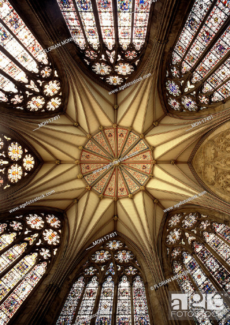 Stock Photo: York, Kathedrale/Gewölbe im Kapitelhaus.