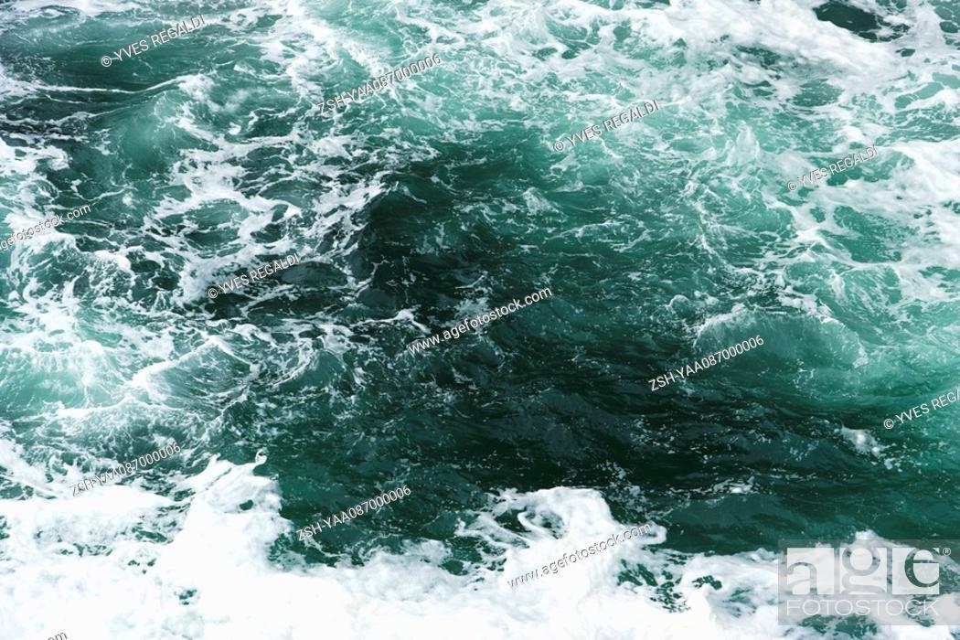 Stock Photo: Choppy sea water, close-up.