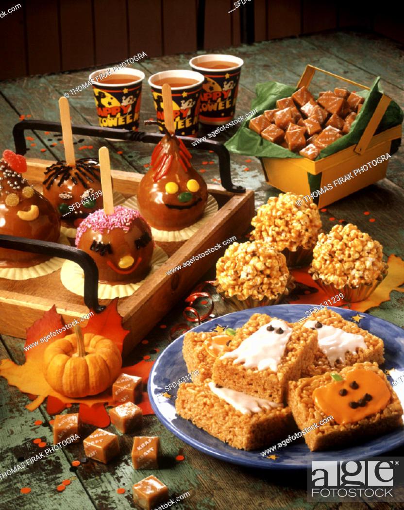 Stock Photo: Assorted Halloween Party Treats.
