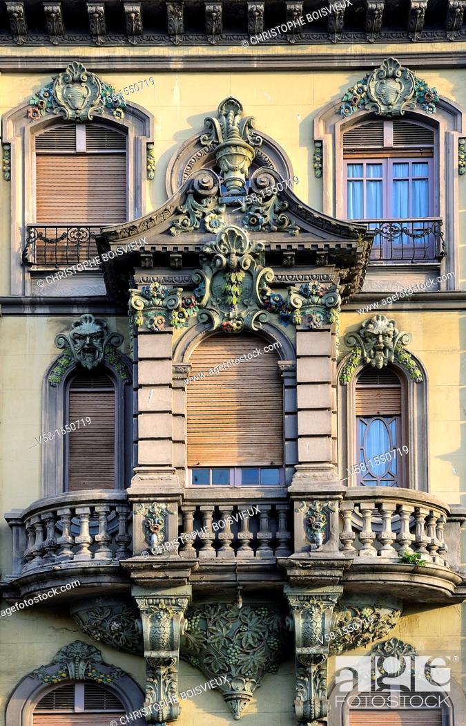Stock Photo: Spain, Asturias, Aviles, Calle Galiana, The Conservatory.