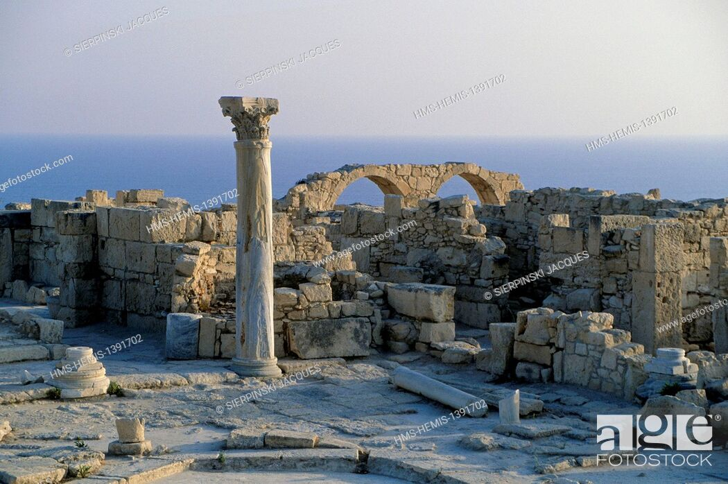 Stock Photo: Cyprus, Limassol district, Kourion archaeological site, former Greco-Roman city.