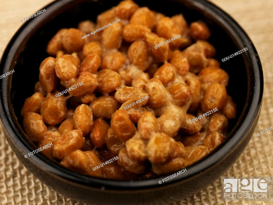 Stock Photo: fermented soybean, plate, natto, decoration, food styling, food, sushi plate.