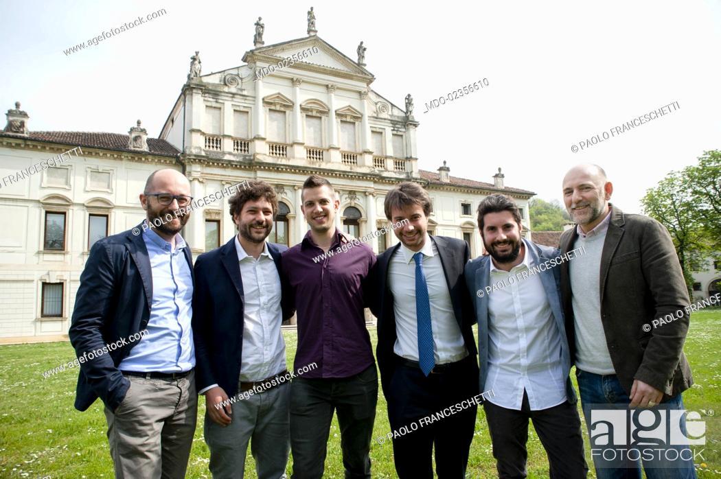 Stock Photo: Paolo Franceschetti (Solwa), Tommaso Grotto e Matteo Scapin (Kopjra), Michele Lorenzi (Develon), Marco Lotito (Wcap) and Jacopo Pertile (Talent Garden).