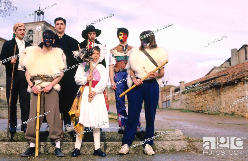 Stock Photo: 'Fiesta del Gallo', Mercerreyes. Burgos provincia. Castilla-Leon. Spain.